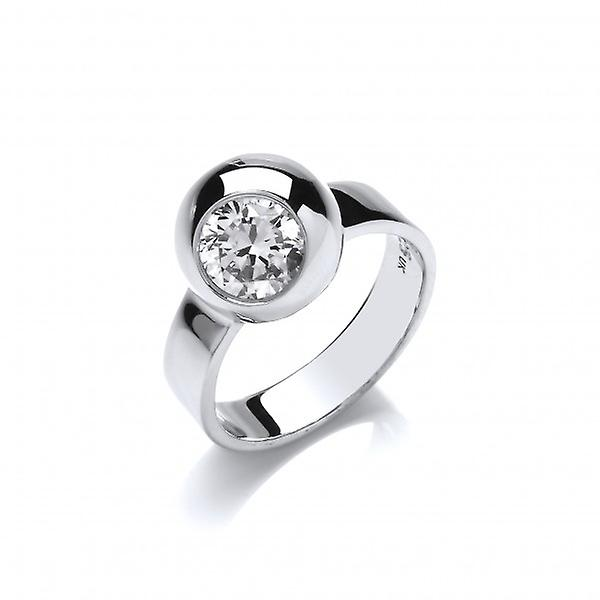 Cavendish French Sterling Silver and CZ Bowl Ring