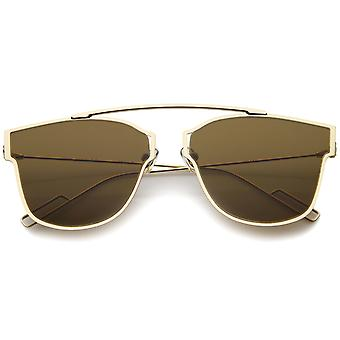 Modern Fashion Ultra Thin Open Metal Minimalist Pantos Aviator Sunglasses 55mm