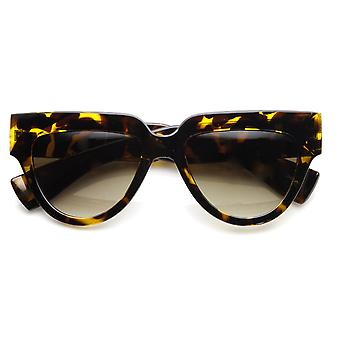 Women's Fashion Bold Frame U-Shaped Flat Top Sunglasses