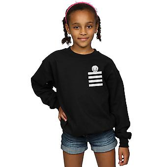 Looney Tunes meisjes Tweety Pie gestreept Faux Pocket Sweatshirt
