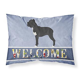 Cane Corso Welcome Fabric Standard Pillowcase