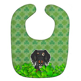 Carolines Treasures  BB6269BIB Wire Haired Dachshund Dapple Shamrocks Baby Bib