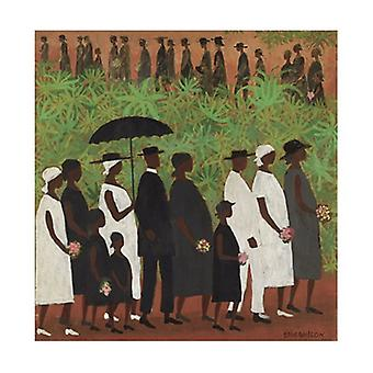 Funeral Procession Poster Print by Ellis Wilson (27 x 30)