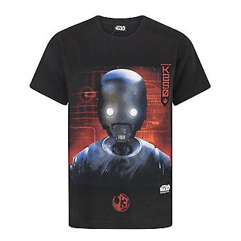 Star Wars Childrens/Boys Official Rogue One K2S0 Robot T-Shirt