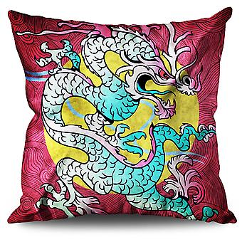 Dragon Oriental Linen Cushion Dragon Oriental | Wellcoda