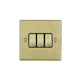 Hamilton Litestat Hartland Polished Brass 3g 10AX 2 Way Rocker PB/BL