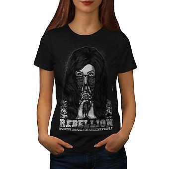 Emo Horror Girl Women BlackT-shirt | Wellcoda