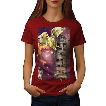Pisa ruimte Italië mode vrouwen RedT-shirt | Wellcoda