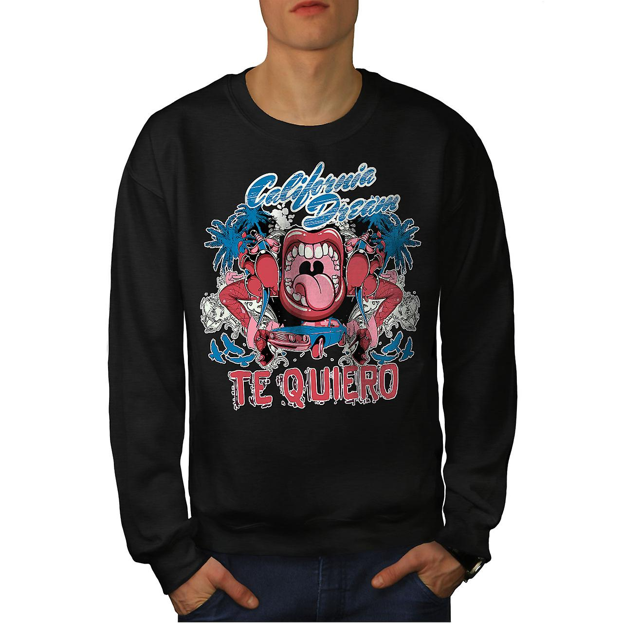 Te Quiero Art Californië mannen BlackSweatshirt | Wellcoda