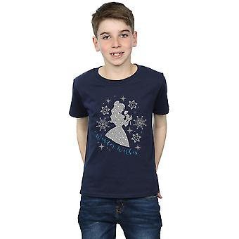 Disney Princess Boys Belle Winter Silhouette T-Shirt