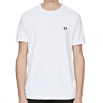 Fred Perry M3519 Ringer t-shirt blanco