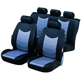 Felicia car seat covers -, Black & Silver For Subaru LEGACY OUTBACK 1996 to 1999