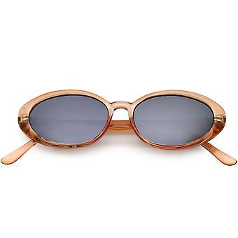 True Vintage Colored Translucent Oval Sunglasses Mirror Lens 51mm