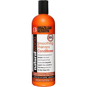 Natural World Brazilian Keratin Oil Smoothing Therapy Conditioner 500 ml