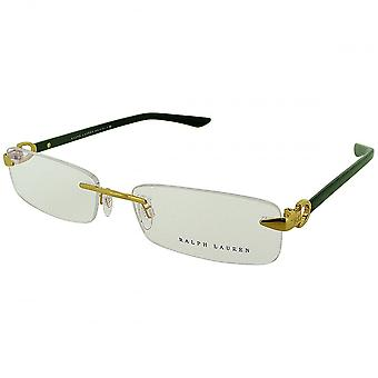 Ralph Lauren Ralph Lauren Black And Gold Rimless Glasses