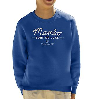 Mambo Cubano Surf White Kid's Sweatshirt