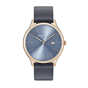 Kenneth Cole New York men's watch wristwatch leather KC15096002