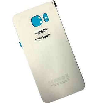 Samsung Galaxy S6 G920 G920F Akkudeckel Deckel + Klebepad Weiss
