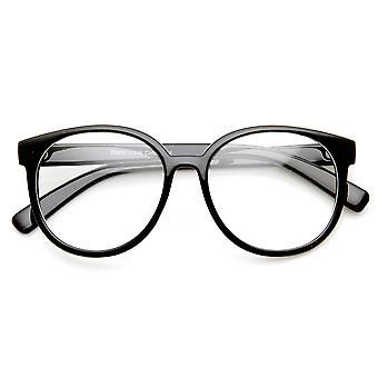 Retro mote overdimensjonert P3 1980-tallet stil ramme klart linsen briller
