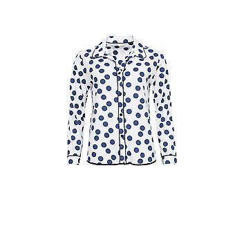 Cyberjammies 3842 女性ゾーイ ホワイト斑点のパジャマ パジャマのトップ