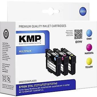 KMP Ink replaced Epson T2715, 27XL Compatible Set Cyan, Magenta, Yellow E179V 1627,4005
