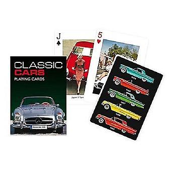 مجموعة سيارات كلاسيكية من أوراق اللعب