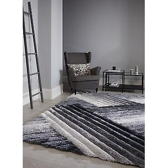 Accent galler grå Silver rektangel mattor Plain/nästan slätt mattor