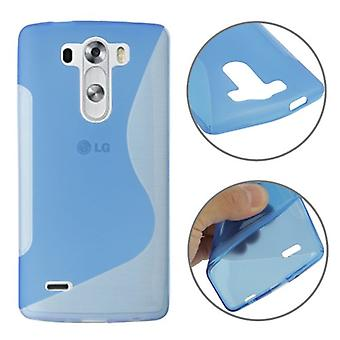 Custodia protettiva TPU Custodia cover per cellulare LG G3 mini blu