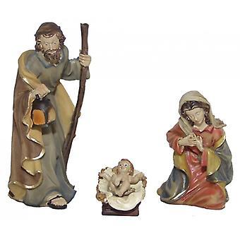 3-delige Nativity beeldjes. Instellen van polyresin Nativity scene cijfers paradijs van 11 cm-set van 3