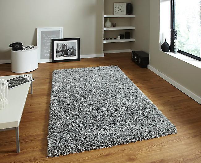 Vista - Plain 2236 grå grå rektangel mattor Plain/nästan slätt mattor