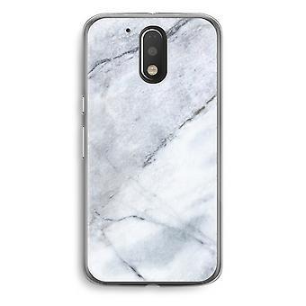 Motorola Moto G4/G4 Plus Transparent Case - Marble white