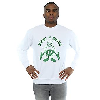 Looney Tunes Men's Marvin The Martian Large Head Sweatshirt