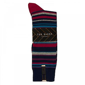 Ted Baker Mens Riven Striped Print Socks (Multi)