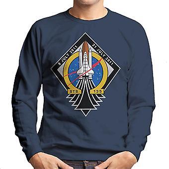 NASA STS 135 Space Shuttle Atlantis Mission Patch Men's Sweatshirt
