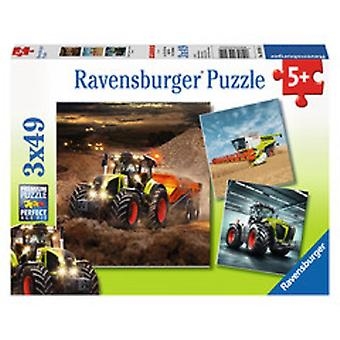 Ravensburger puzzel Claas tractor 3x49pc