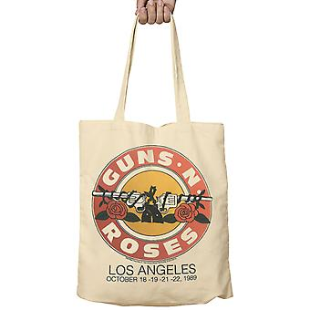 Guns N Roses Tote Bag Live LA October 1989 Pistols Band Logo new Official Fabric