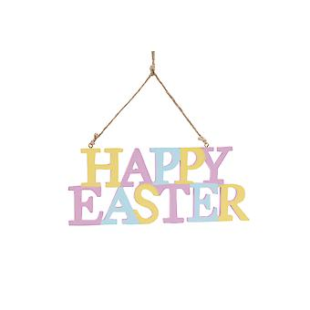 Happy Easter Hanging Plaque