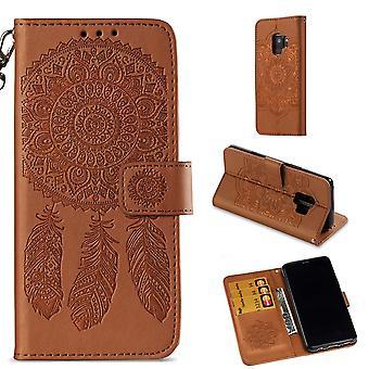 Samsung Galaxy S9 Wallet Pouch-Dream Catcher-Brown