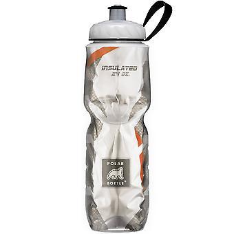 Polar Bottle Sport Insulated 24 oz Water Bottle - Carbon Fiber/Orange