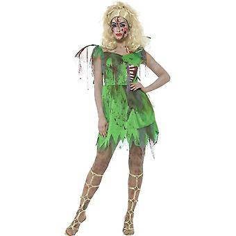زي الجنيه الكسول، الأخضر، باللباس، وتعلق الأضلاع مطاط & أجنحة
