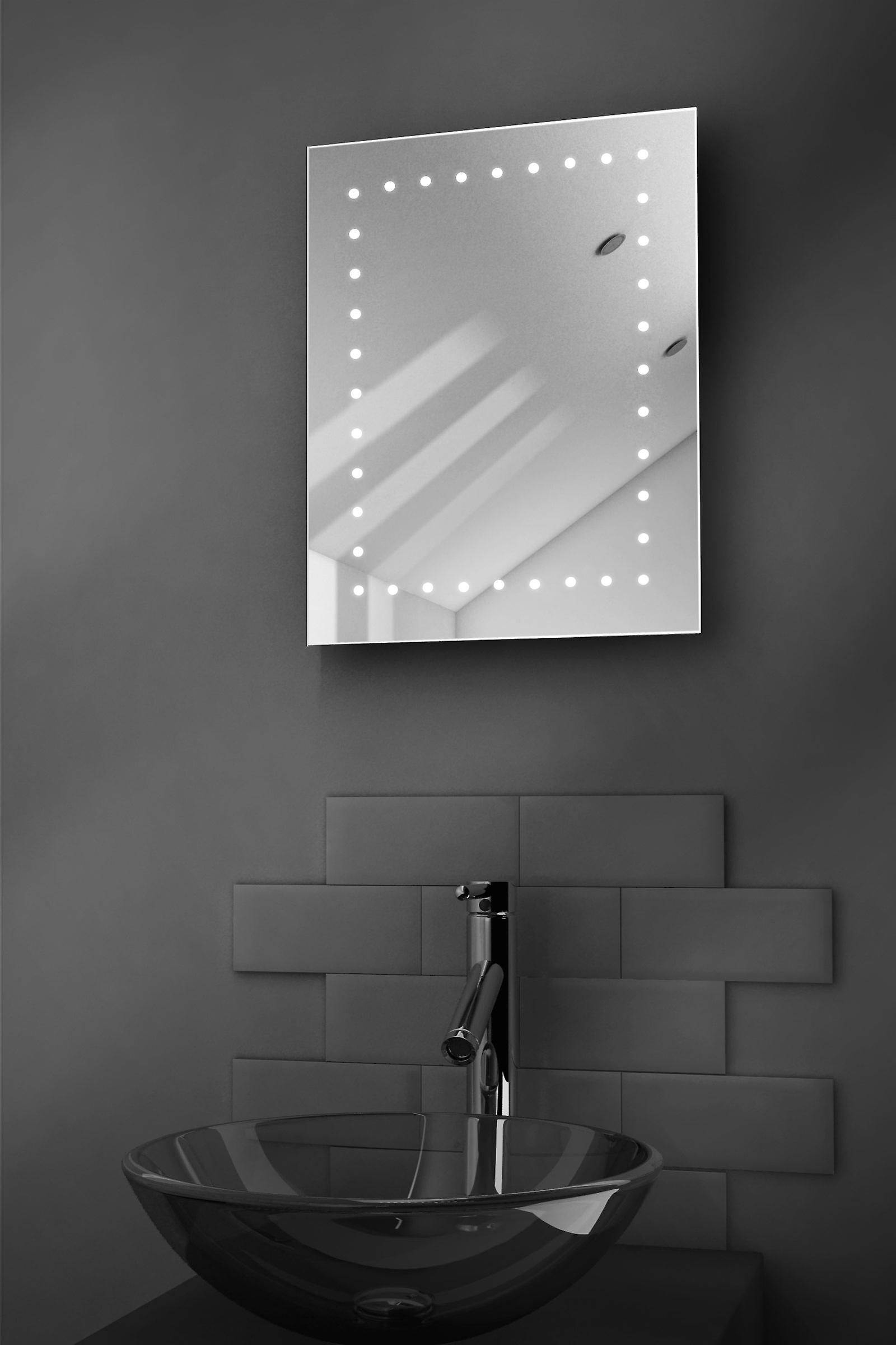 Leon Shaver LED Bathroom Mirror With Demister Pad & Sensor k163