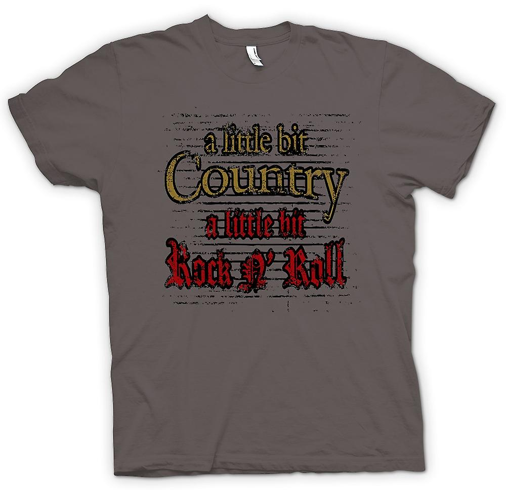 Mens T-shirt-wenig Country Rock n Roll