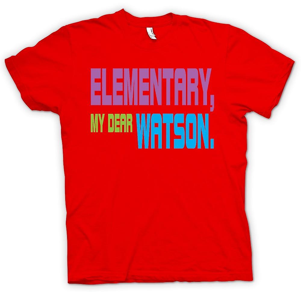 Mens T-shirt - Sherlock Holmes Elementary - Funny