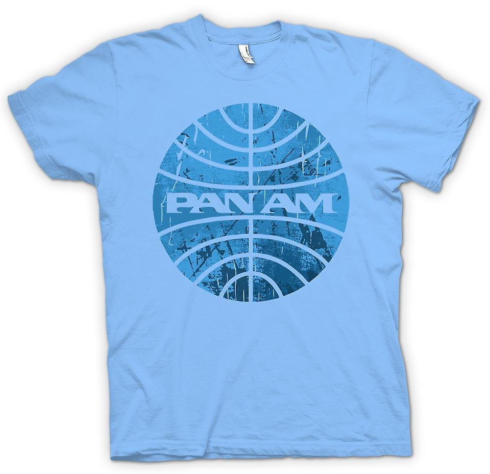 Herr T-shirt - PAN AM flygbolagen logon - Cool