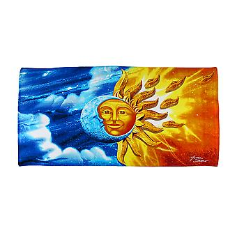 Celestial Sun Moon Beach Towel 60 Inches X 30 Inches