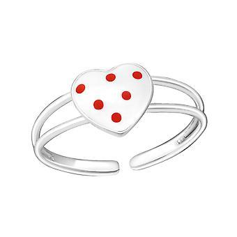 Corazón - plata de ley 925 + Epoxy color anillos - W1060X
