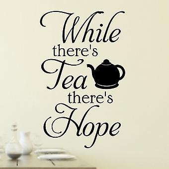 Tea wall quote sticker art