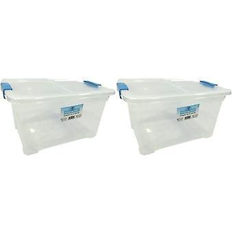 2 x 18 литров хранения коробка и крышка с клипов для хранения мебели