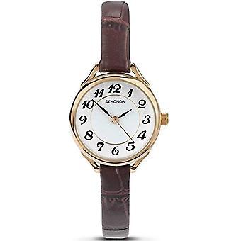Sekonda wristwatch, female, Skin, Brown (3)