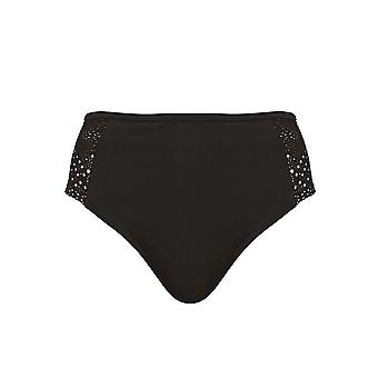 Elomi Indie Es7534 Mid Rise Bikini Brief Black (Blk) Cs